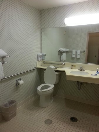 Fairfield Inn Orlando Airport : One angle of the bathroom-Fairfield Inn