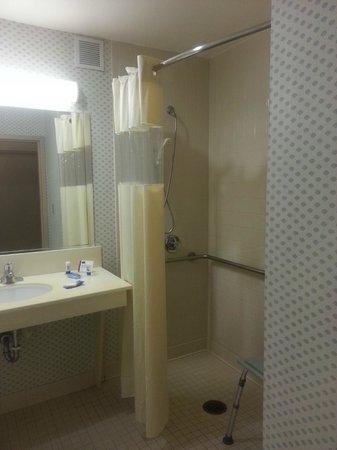 Fairfield Inn Orlando Airport : A shot of the shower facilities-easy occupancy