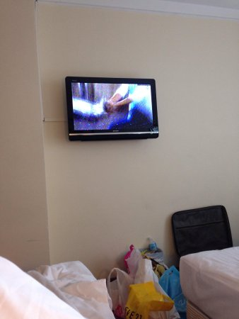Summer View Hotel: Wall mounted screen