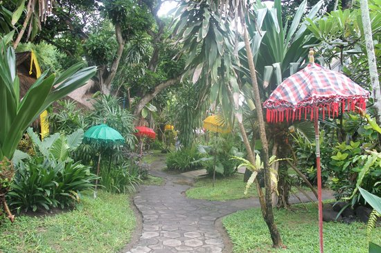 Bali Mystique Hotel and Apartments: the gardens near the bungalows and pool