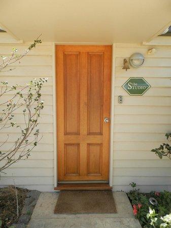 Wagner's Cottages: Front door to the Studio