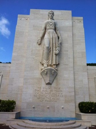 National Memorial Cemetery of the Pacific: the large monument at the memorial