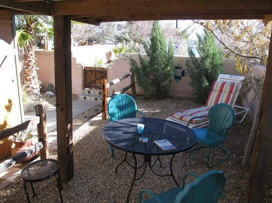 Spin and Margie's Desert Hideaway : Winter 2013. Room 4 private patio for sunrises, sunsets & stars!