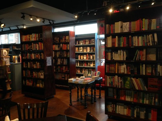 Busboys and Poets: Restaurant Interior - Area for browsing books