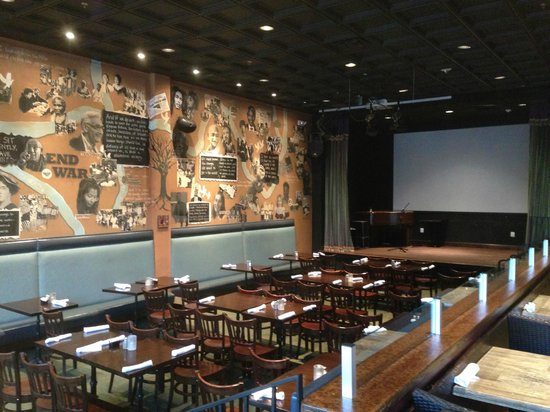 Busboys and Poets: Restaurant Interior - Stage for performances