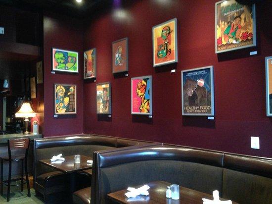 Busboys and Poets: Restaurant artwork