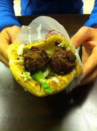 Falafel Gabai : falafel houmous