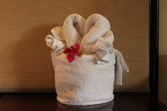 Discovery Kartika Plaza Hotel: Towel decoration