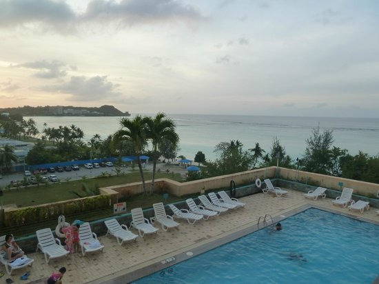 Holiday Resort & Spa Guam: Nice view from room, but badly maintained and unstaffed pool area.