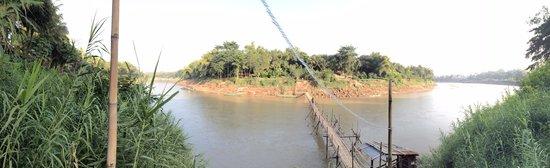 Overlooking Dyen Sabai from the Bamboo Bridge