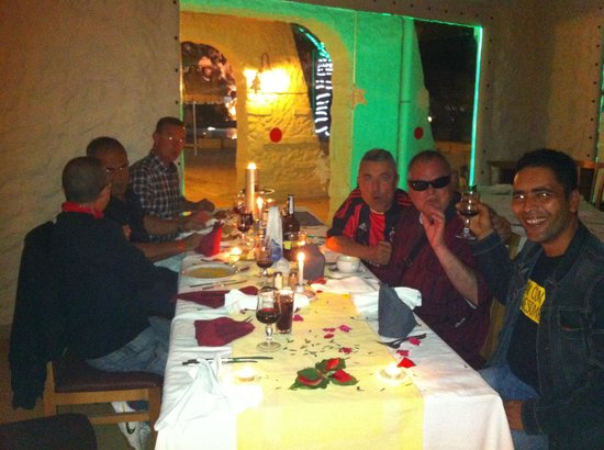 Club Diana Rimel Djerba: staff held a birthday dinner for one of the guests