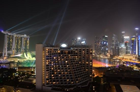 Pan Pacific Singapore: The view from our room for New Years Eve 2013