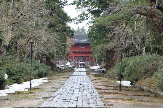 Iwakiyama Shrine: 参道