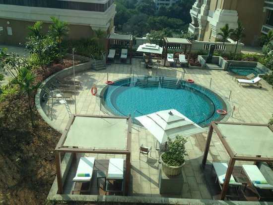 View Of Pool From Room Picture Of Itc Grand Chola Chennai Chennai Madras Tripadvisor