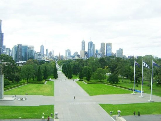 View from the Top of the Shrine of Remembrance