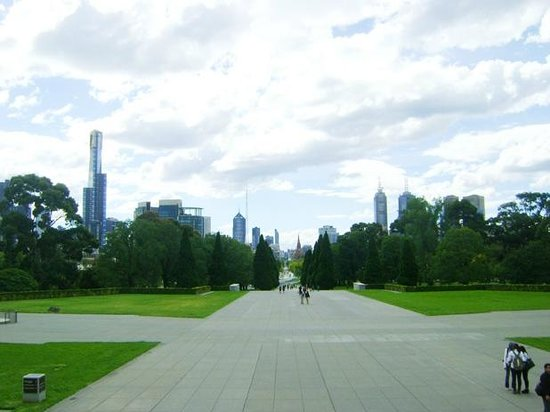 View in Front of the Shrine of Remembrance