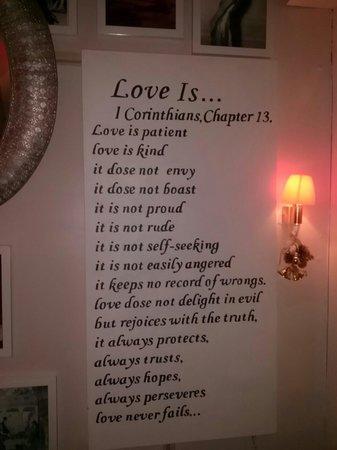Mini Hotel Causeway Bay Hong Kong: Love this scripture verse~
