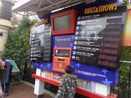 Universal Studios Japan: Wait times for rides