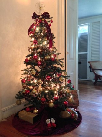 Sweetfield Manor Boutique Hotel: Amazing Christmas tree in the main building