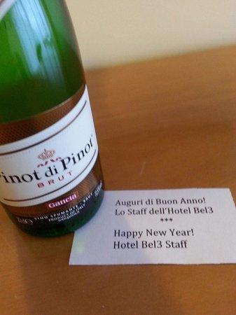 Hotel Bel 3: Capodanno al bel 3: bottiglietta di spumante in camera offerta dallo staff!