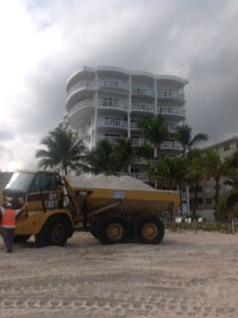 Beachcomber Resort and Villas: one of many earth movers at hotel from dawn to dusk