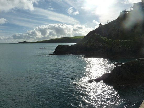 Portmellon Cove Guest House : View of Cornish Coast line from Mevagissey