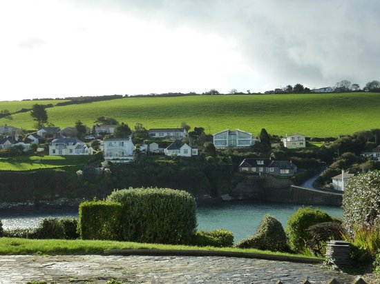 Portmellon Cove Guest House : View of Portmellon from road leading to Mevagissey