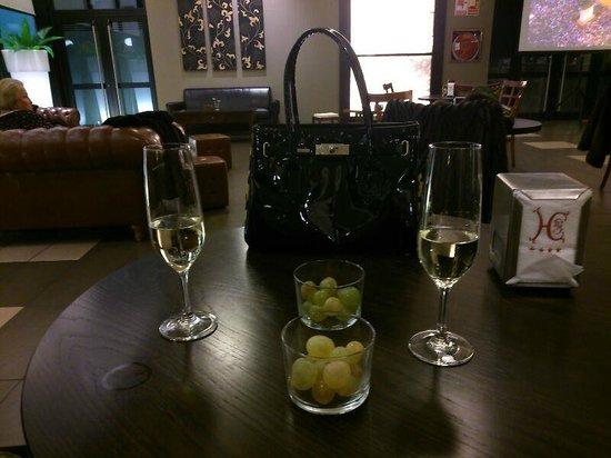 Hotel Cortijo Santa-Cruz: Momento previo a las uvas de fin de año.
