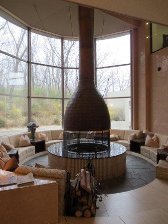 Hotel Floracion Nasu: 暖炉