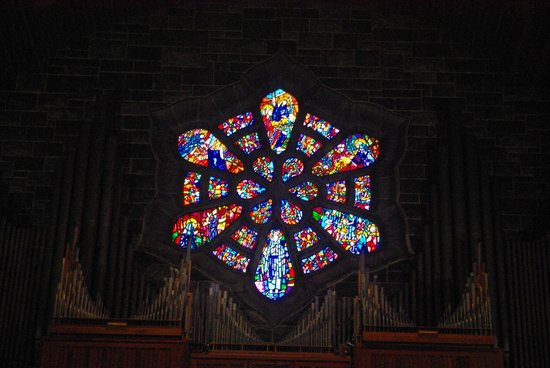 Galway Cathedral: Breathtaking stained glass.....