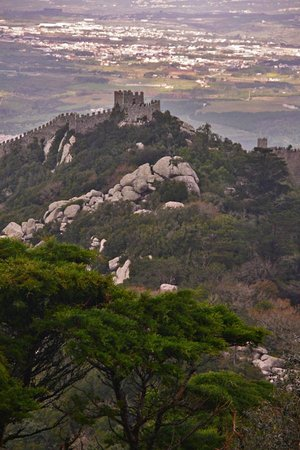 Castle of the Moors : The Moors Castle seen from the Pena Palace