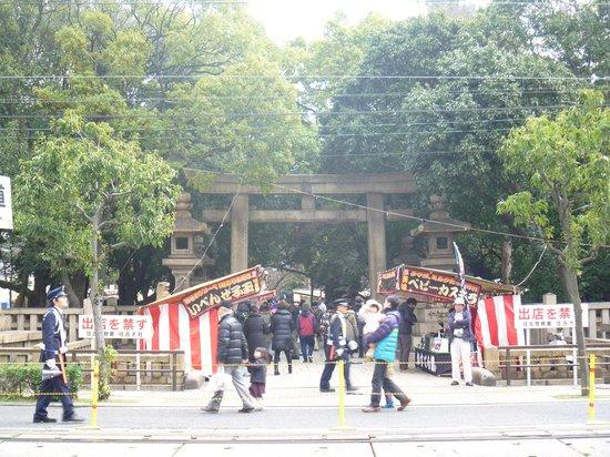 Sumiyoshi Taisha Shrine: 正面