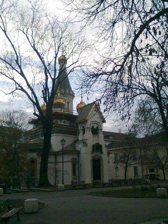 Saint Nikolas Russian Church (Tsurkva Sveta Nikolai): The church in winter