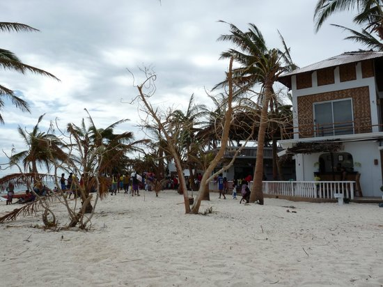 Malapascua Exotic Island Dive & Beach Resort: Hotel Strand vor Rezeption