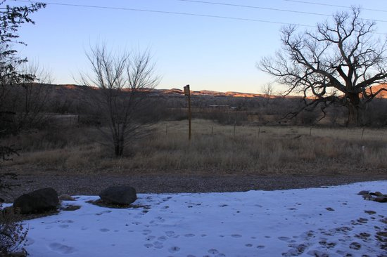 Abiquiu Inn: View from the back window of our room