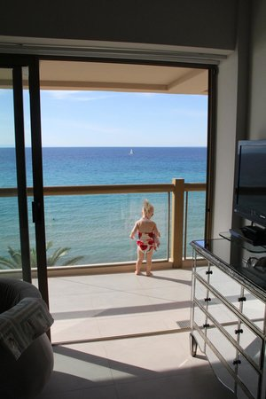 Sani Beach Hotel: What a view! from 2BR suite 5th floor B Block