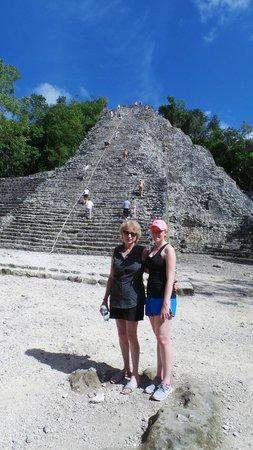 Coba Mayan Traditions: My girls at the ruins