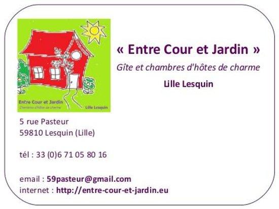 Entre Cour et Jardin: Carte de visite