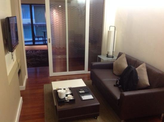 Phachara Suites: nice sofa to relax with tv