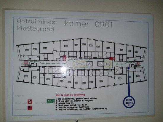 Art Hotel Rotterdam: plattegrond level 9