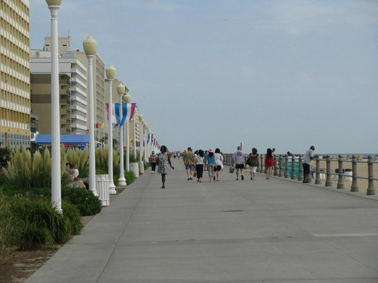 Virginia Beach Boardwalk Nice And Wide