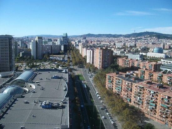 Barcelona Princess: The view from the Elevator along Avenida Diagonal - you can see the Sagrada Familia