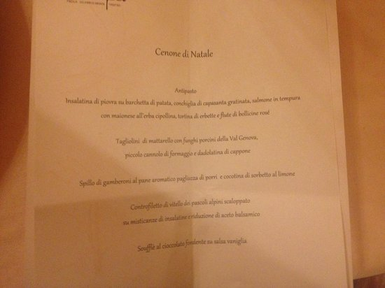 Europeo Charme & Relax Hotel: Cena di Natale