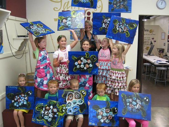 Painting With a Twist : Kids LOVE it TOO!
