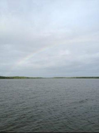 Everglades Backcountry Experience with Capt. Rodney Raffield: Lovely rainbow in the Everglades
