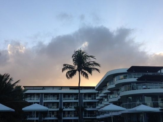Millennium Resort & Spa : A look back at the hotel grounds from the pool deck at sunset