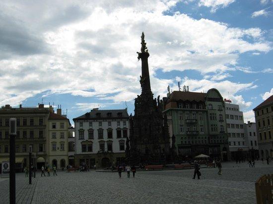 Olomouc Town Hall: Columna de la Santisima Trinidad