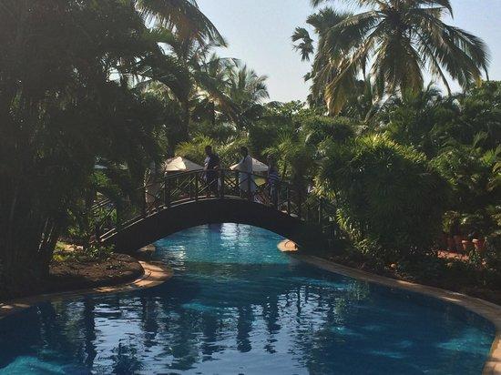 The Zuri White Sands Goa Resort & Casino: One of the bridges over the pool