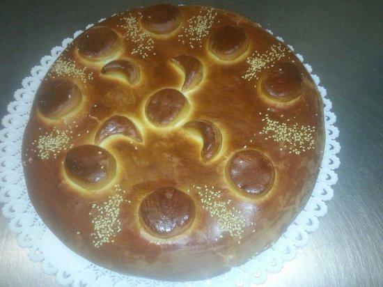 La Romanella : Torta salata di brioche con formaggi e prosciutto