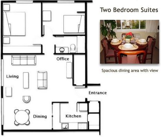 Marriott Residence Inn Floor Plans: Floor Plan- Two Bedroom Suite
